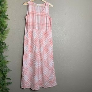 J. Jill Maxi Dress Love Linen Sleeveless Pink S